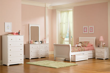 sleigh bed white